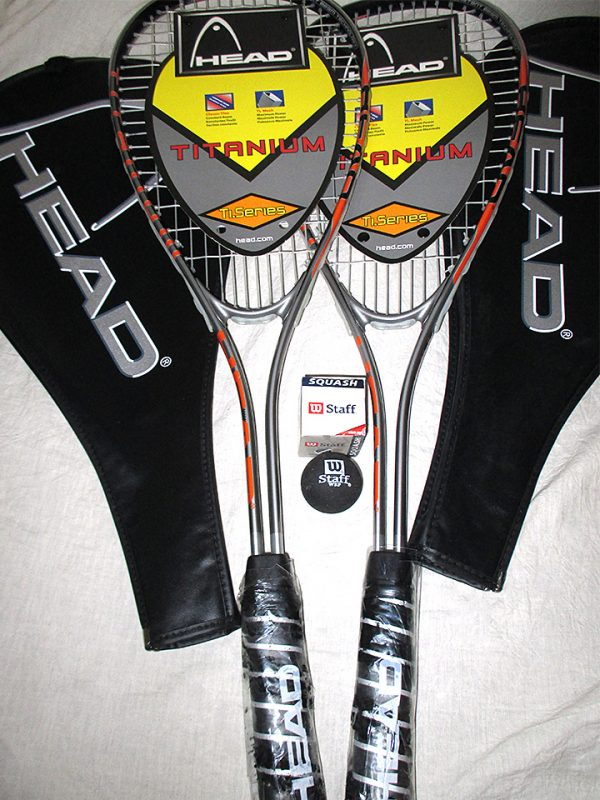Pair of Head Ti Speed Squash Rackets - Racquets4Less.com