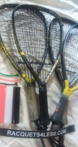 Used gearbox racquetball racquets