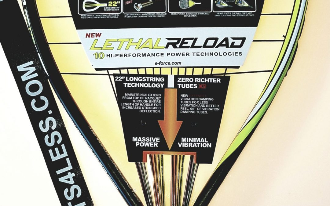 Eforce Lethal nxt gen & Lethal Reload racquets exclusive at racquets4less